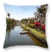Venice Canal 1 Throw Pillow