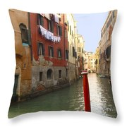 Venice Canal 3 Throw Pillow