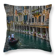 Venice Canal 7 Throw Pillow