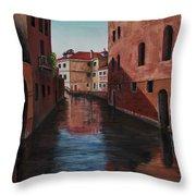 Venice Canal Throw Pillow by Darice Machel McGuire