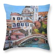 Venice Canals Throw Pillow