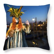 Venice Carnival '15 Vi Throw Pillow