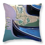 Venice Gondolas Throw Pillow