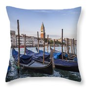 Venice Grand Canal And Goldolas Throw Pillow