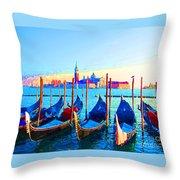 Venice Hues Throw Pillow