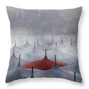 Venice In Rain Throw Pillow
