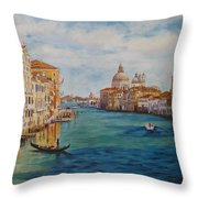 Venice In The Afternoon Throw Pillow