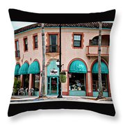 Venice Island Florida Throw Pillow