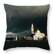 Venice Island Saint Giorgio Maggiore Throw Pillow