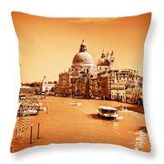 Venice Italy Grand Canal Throw Pillow