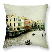 Venice Italy Magical City Throw Pillow