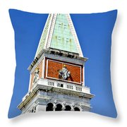 Venice Italy - St Marks Square Tower Throw Pillow