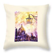 Venice Italy Watercolor Painting On Yupo Synthetic Paper Throw Pillow