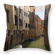 Venice Laundry Day Throw Pillow