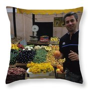 Venice Market Throw Pillow