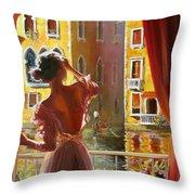 Venice Morning. Throw Pillow