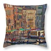 Venice Palazzi At Sundown Throw Pillow