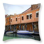 Venice Reflections - Italy Throw Pillow