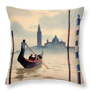 Venice San Giorgio Island Throw Pillow