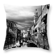Venice Side Canal Throw Pillow