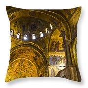Venice - St Marks Basilica Interior Throw Pillow