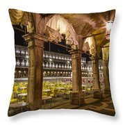 Venice St Mark's Square At Night Throw Pillow