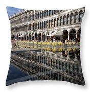 Venice Italy - St Mark's Square Symmetry Throw Pillow