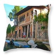 Venice Streetscape Throw Pillow