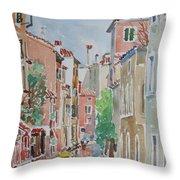 Venice Summer Throw Pillow