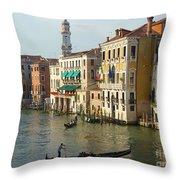Venice Sun Throw Pillow