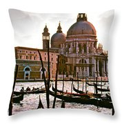 Venice The Grand Canal Throw Pillow