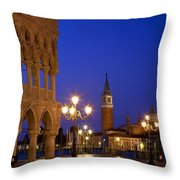Venice Twilight Throw Pillow