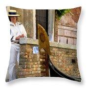 Venice Valet Throw Pillow