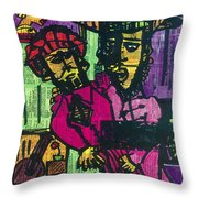 Ventriloquist And Dummy Throw Pillow