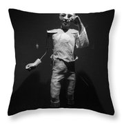 Ventriloquist Throw Pillow
