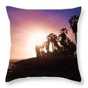 Ventura Beach Sunset Throw Pillow