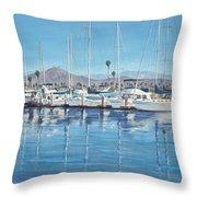 Ventura Harbor Morning Light Throw Pillow