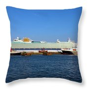 Ventura Sheildhall Calshot Spit And A Tug Throw Pillow