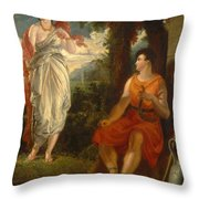 Venus And Anchises Throw Pillow