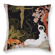Venus Throw Pillow by Georges Barbier