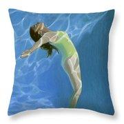 Venus Goes H2o  Throw Pillow