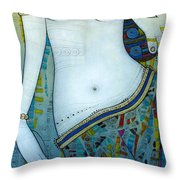 Venus With Doves Throw Pillow