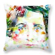 Vera Brittain - Watercolor Portrait Throw Pillow