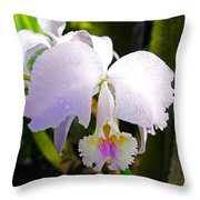 Veraflora Orchid  Throw Pillow