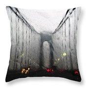 Verazanno Bridge Rain Photofresco Throw Pillow