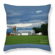 Verdant Farmland Throw Pillow