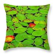 Verdant Swamp Throw Pillow