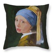Vermeer Study Throw Pillow