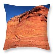 Vermilion Mounds Throw Pillow