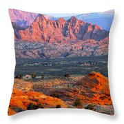 Vermillion Cliffs At Sunrise Throw Pillow